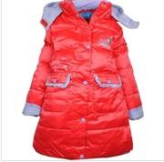 Мертвый сезон продажи детских пуховик Куртка для девочек длинный пухов