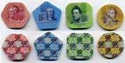 Официальные монеты Приднестровья из композитных материалов.