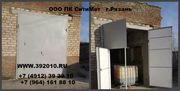 Ворота гаражные с калиткой производство продажа Рязань. Артикул 10402