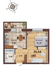 Продается 1-я (36, 6) квартира в ЖК «Юный»
